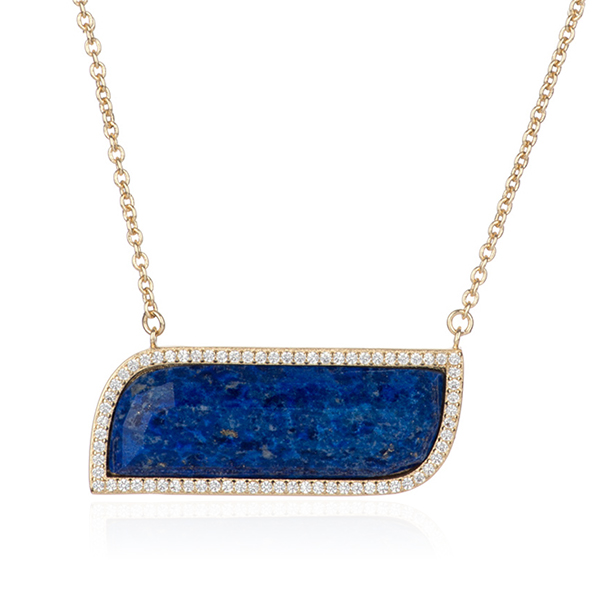 Lapis Pendant Necklace by MARCIA MORAN