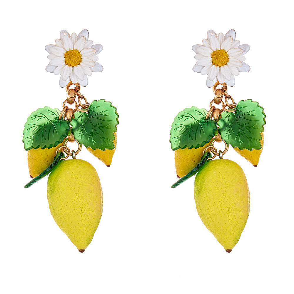 Lemon Thaddea Earrings by ELIZABETH COLE