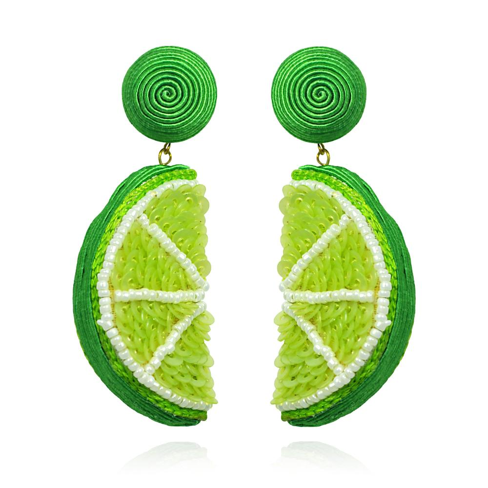 Lime Lima Earrings by SUZANNA DAI