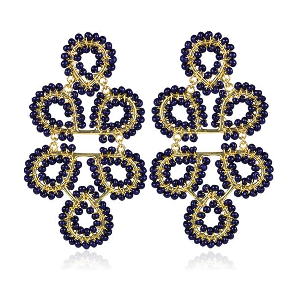 Lisi Navy Ginger Earrings by LISI LERCH