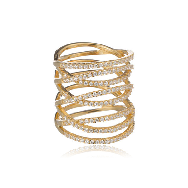 Long Pave Ring by MARCIA MORAN