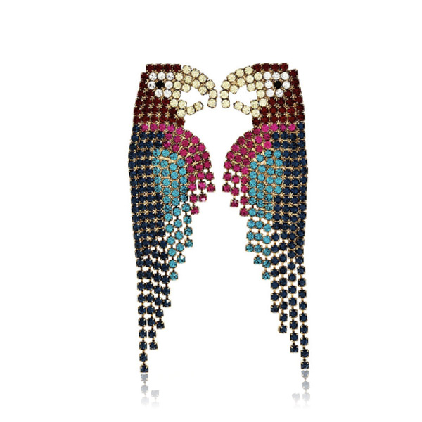 Parrot Macaw Earrings by ELIZABETH COLE