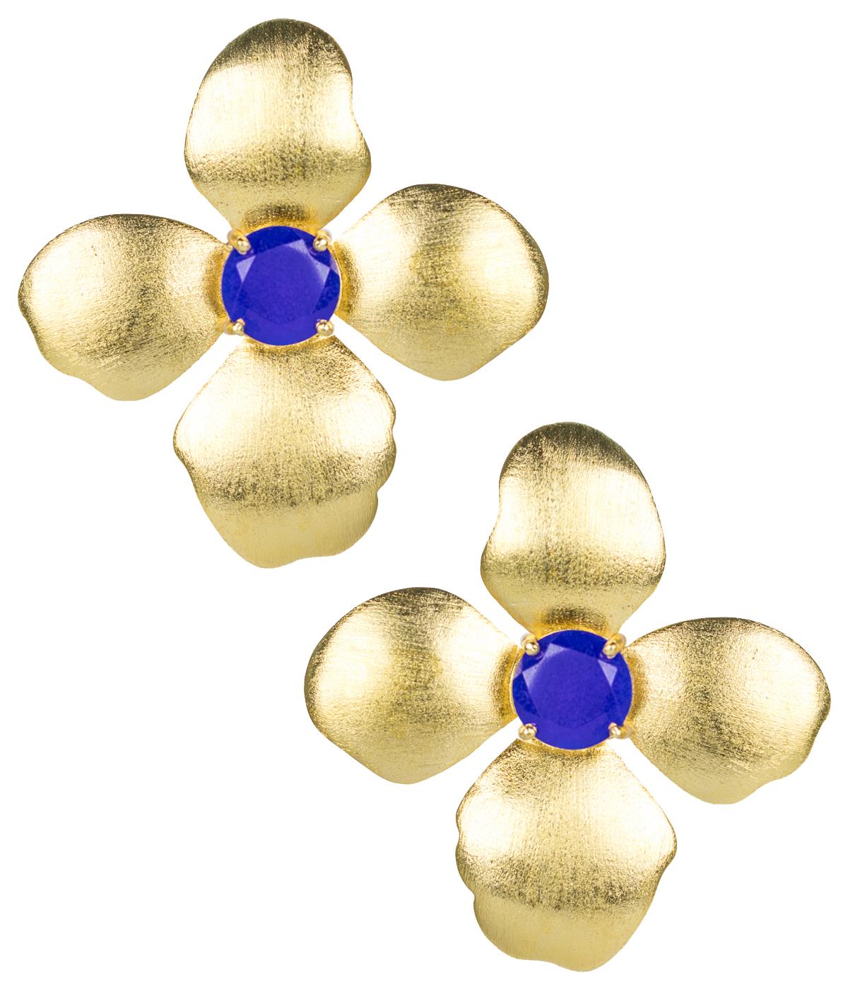 Maggie Blue Flower Earrings by LISI LERCH