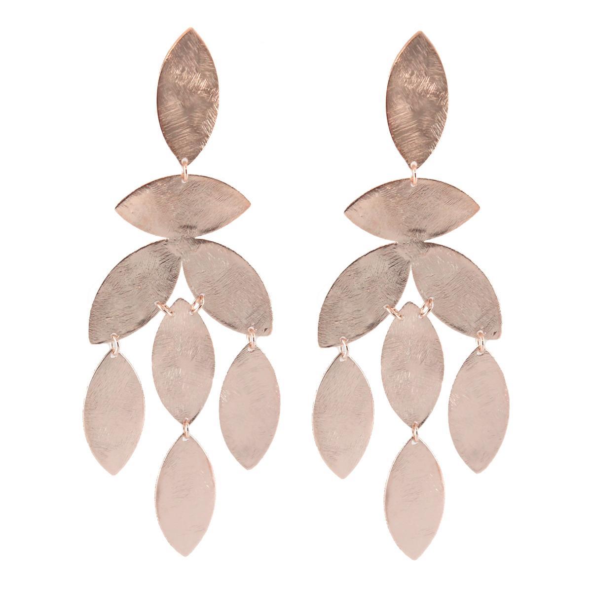 Rose Gold Magnolia Earrings by MARCIA MORAN