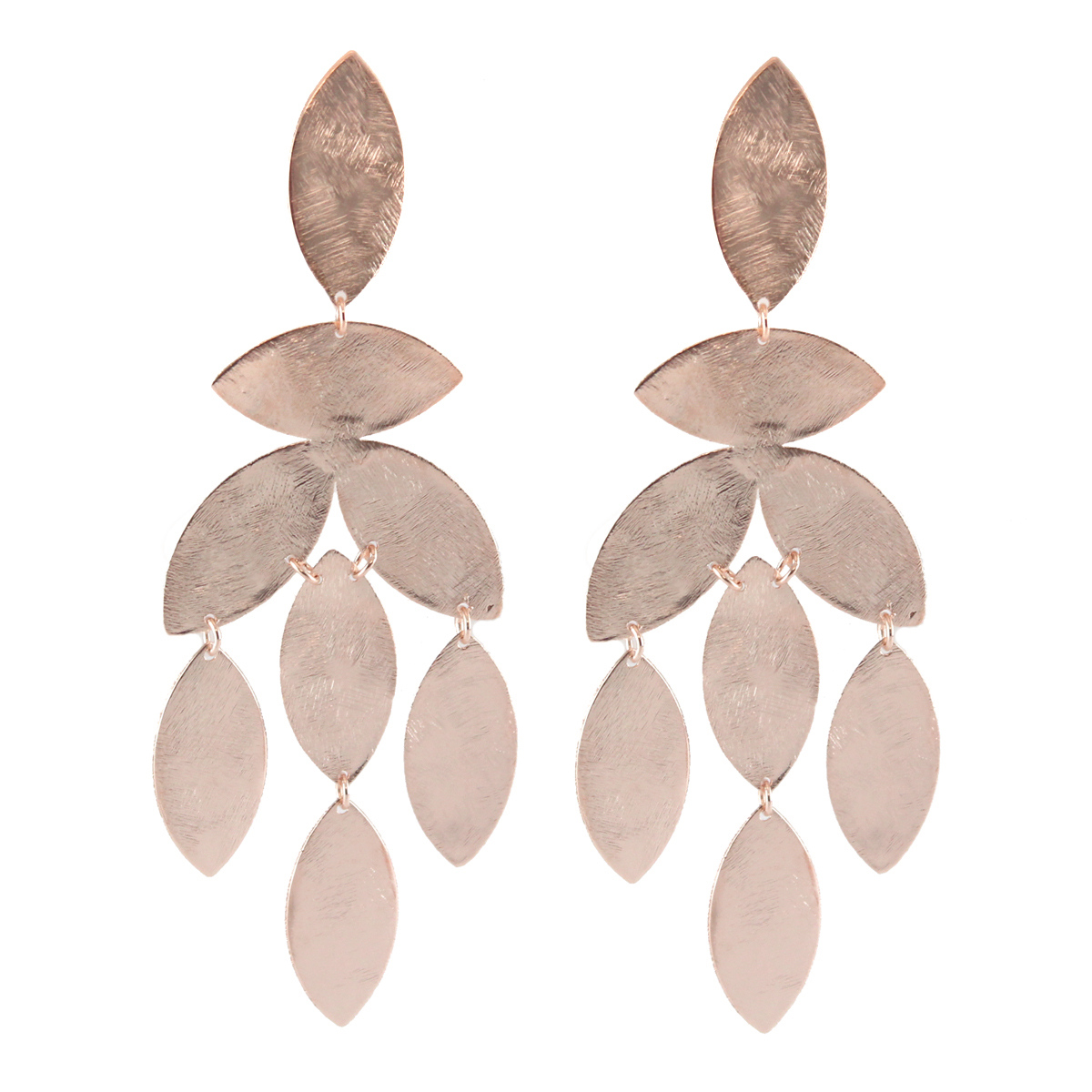 Rose Gold Magnolia Earrings by MARCIA MORAN