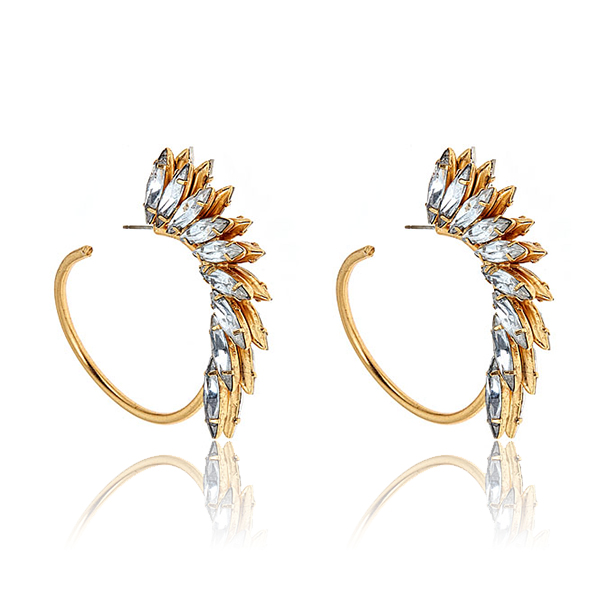 Mohawk Hoop Earrings by ELIZABETH COLE