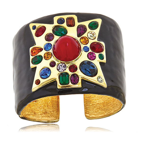 Maltese Cross Cuff Bracelet by KENNETH JAY LANE