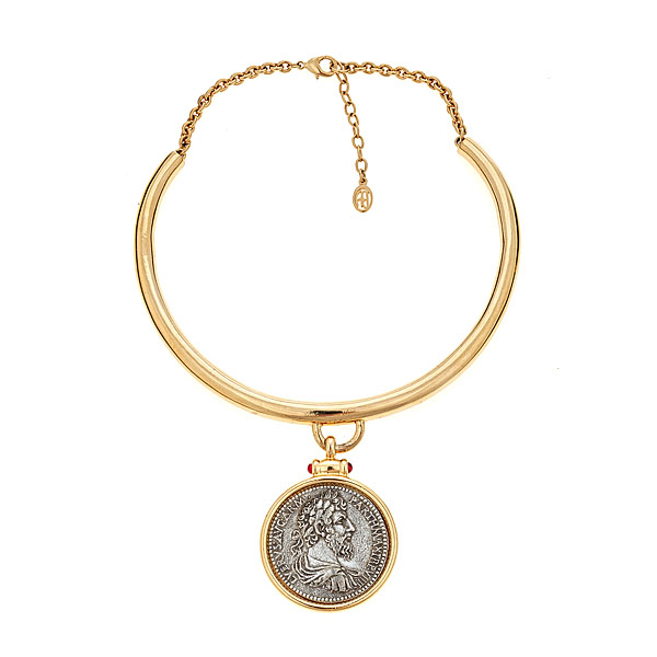 Coin Collar Necklace by BEN-AMUN