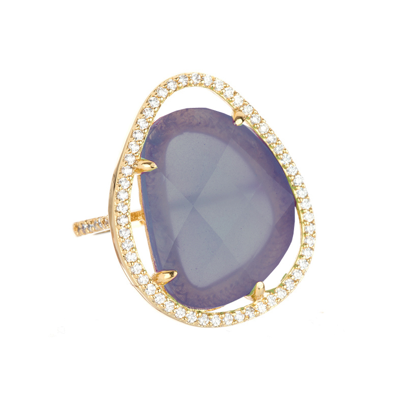 Lavender Cocktal Ring by MARCIA MORAN