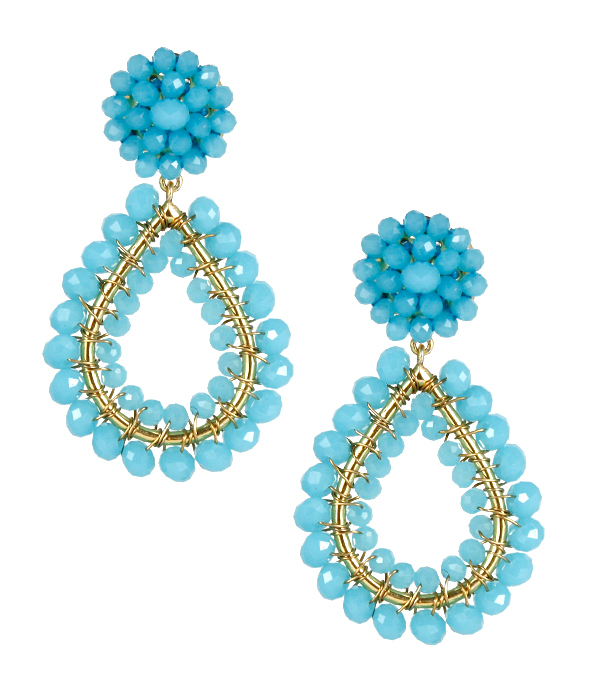 Margo Aqua Earrings