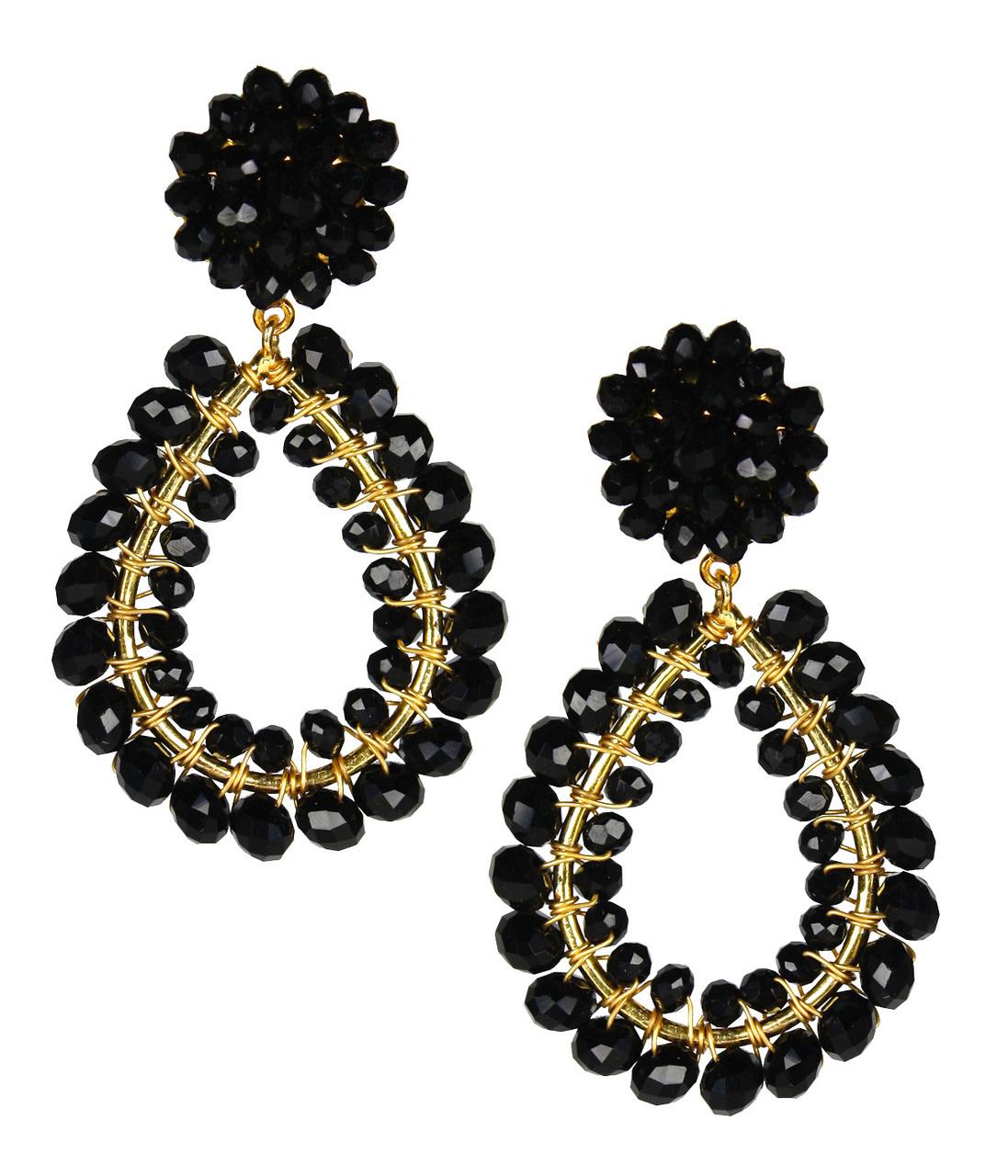 Margo Black Earrings by LISI LERCH