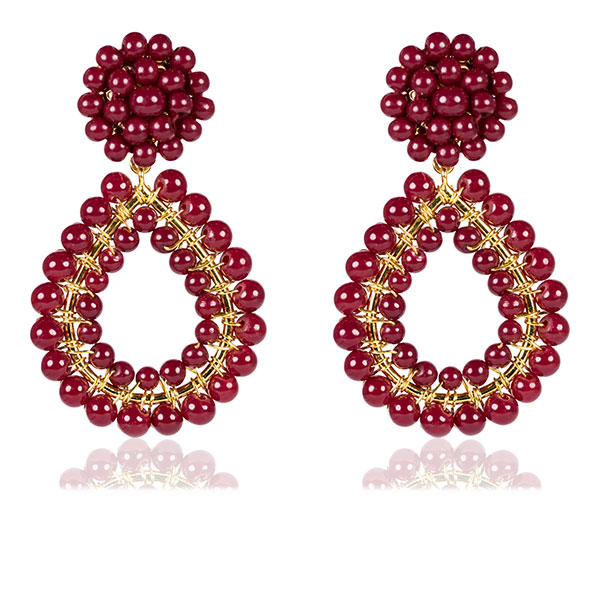 Margo Burgundy Earrings by LISI LERCH