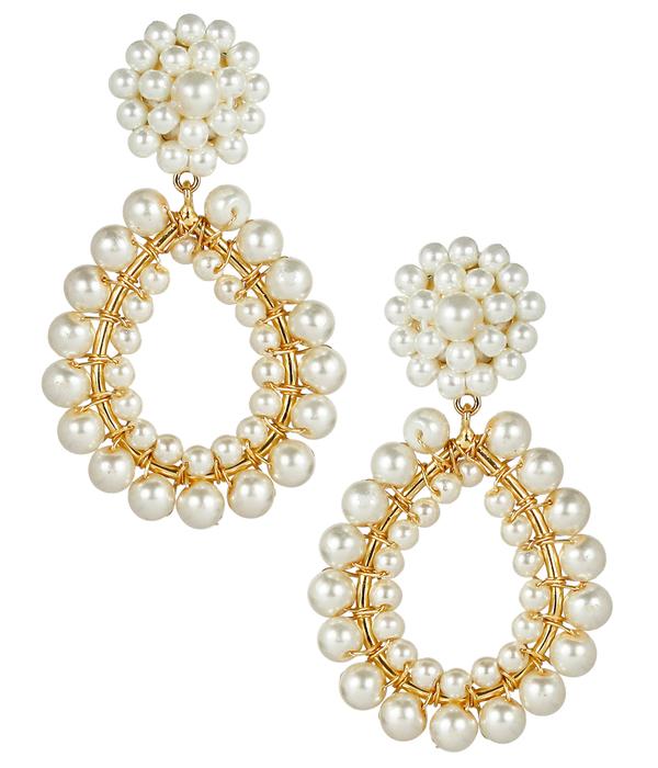 Margo Pearl Earrings by LISI LERCH