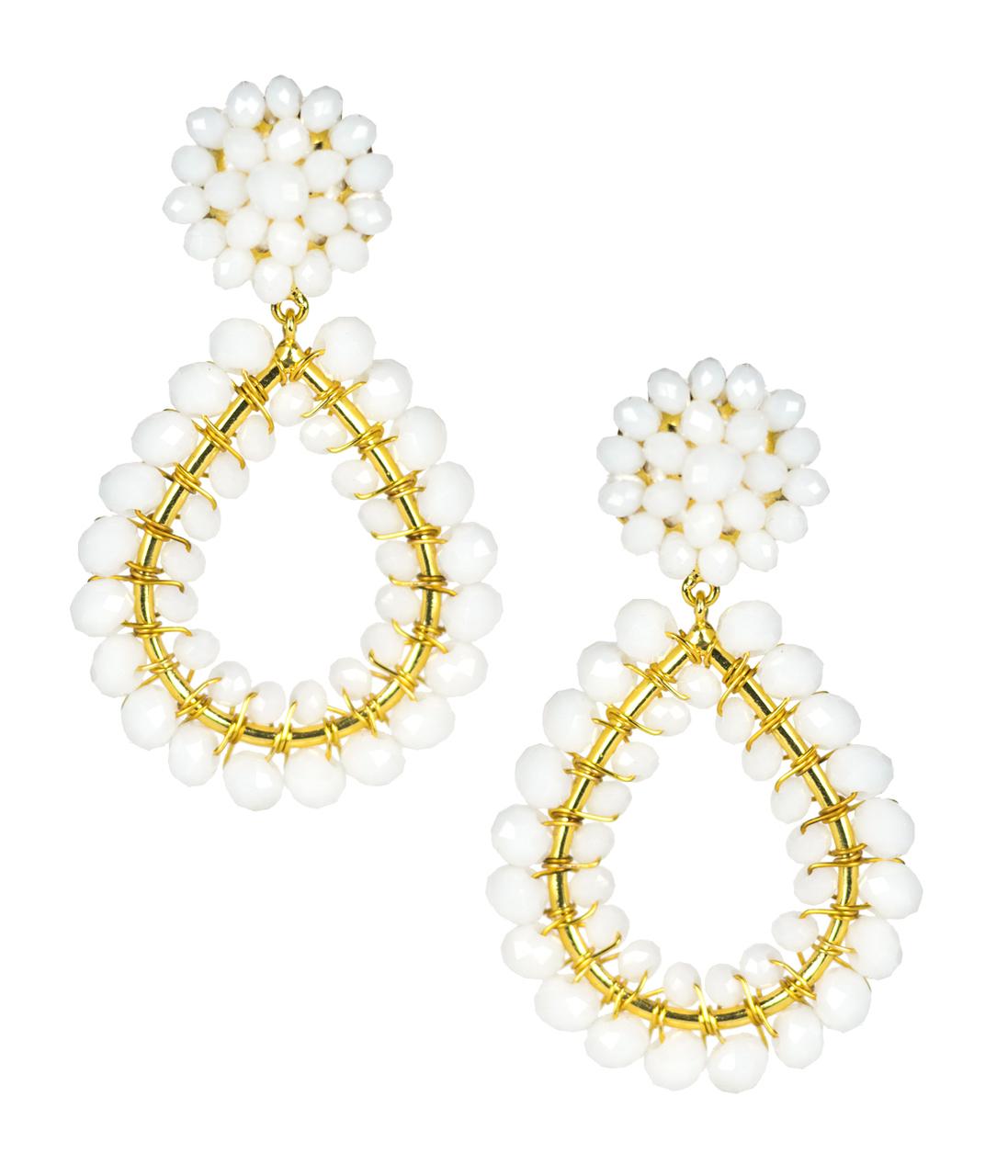 Margo White Earrings by LISI LERCH