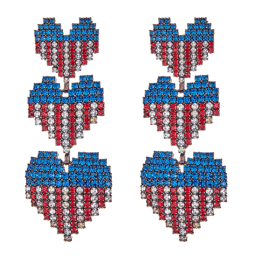 Martha USA Earrings by ELIZABETH COLE