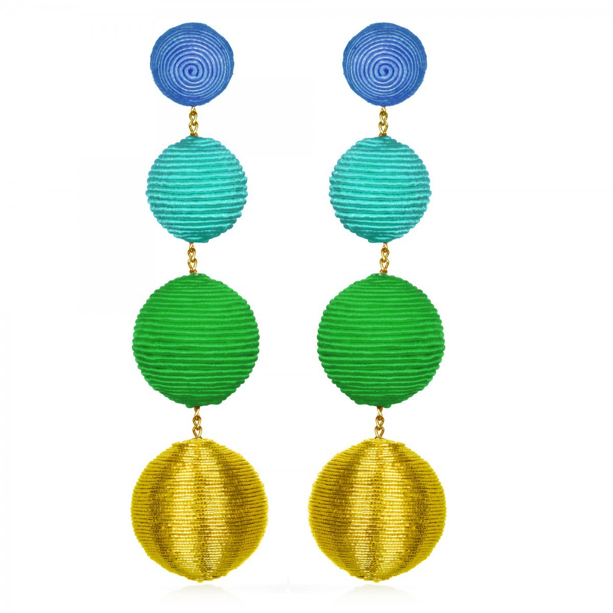 Metallic Gumball Earrings by SUZANNA DAI