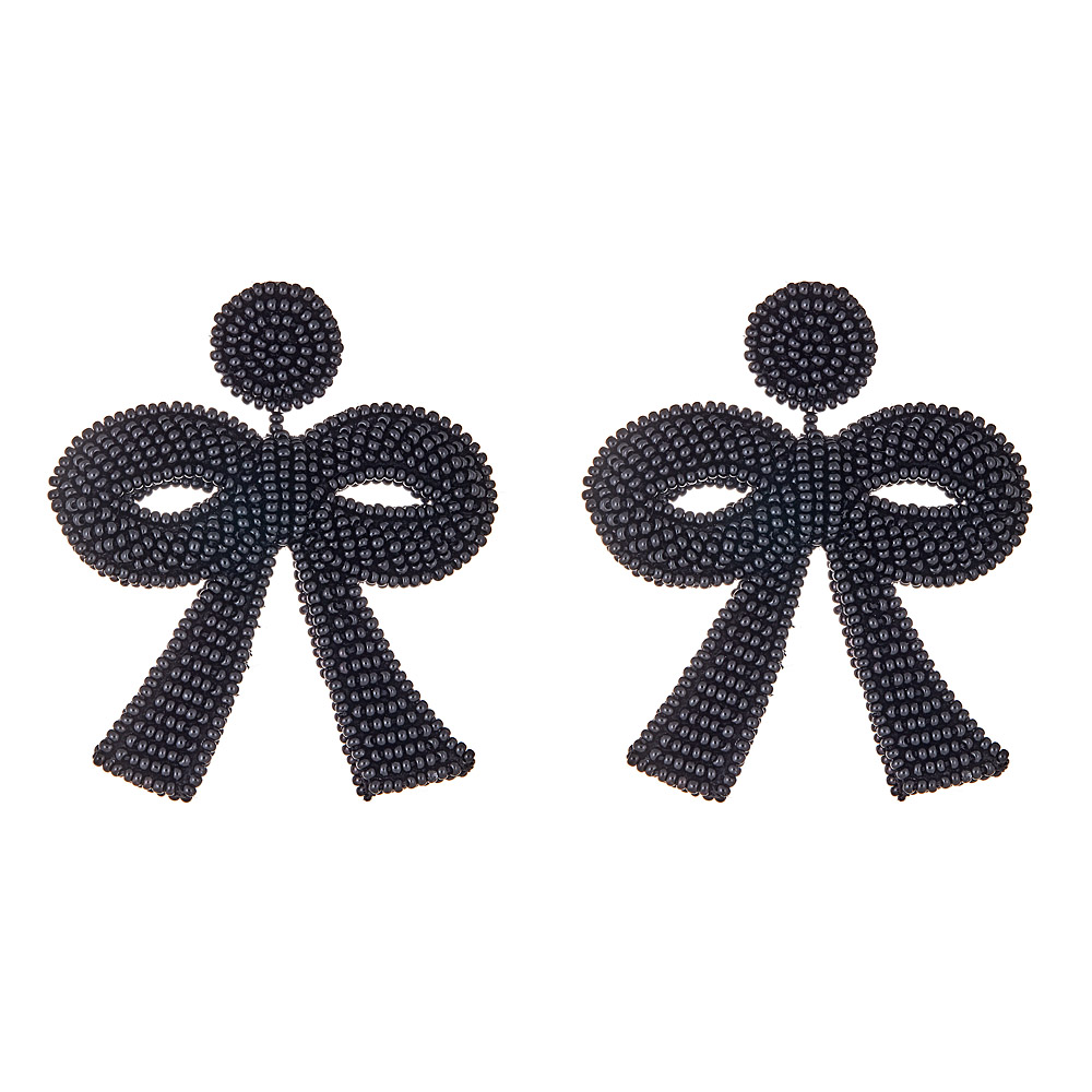 Mini Fifi Black Bow Earrings by FRENCH AND FORD