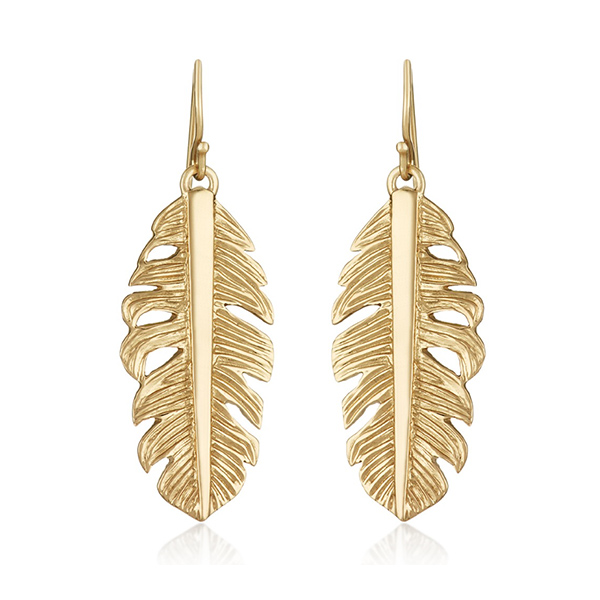Mini Nina Feather Earrings by MELINDA MARIA