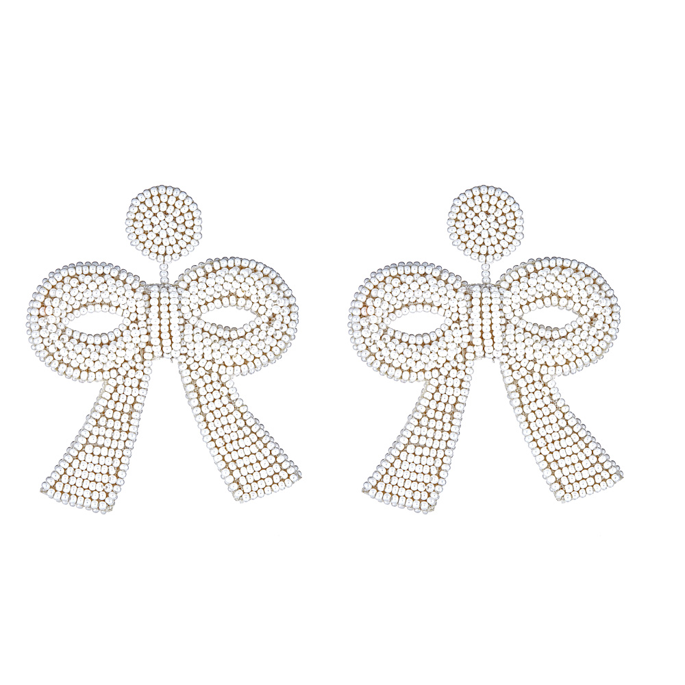 Mini Pearl Bow Earrings by FRENCH AND FORD