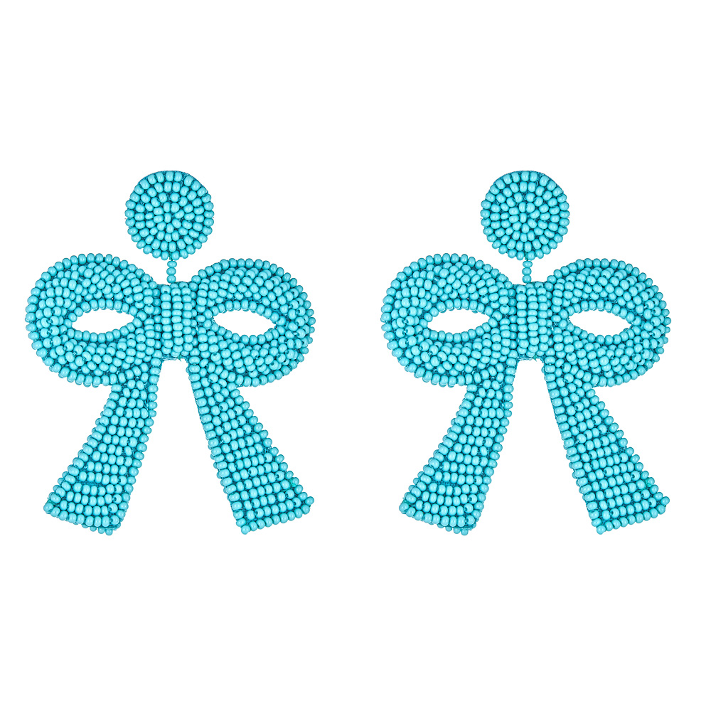 Mini Turquoise Bow Earrings by FRENCH AND FORD