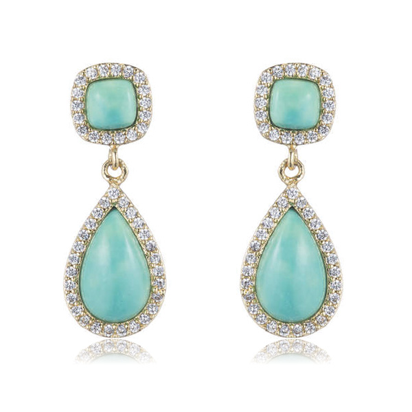 Mini Turquoise Drop Earrings by Marcia Moran