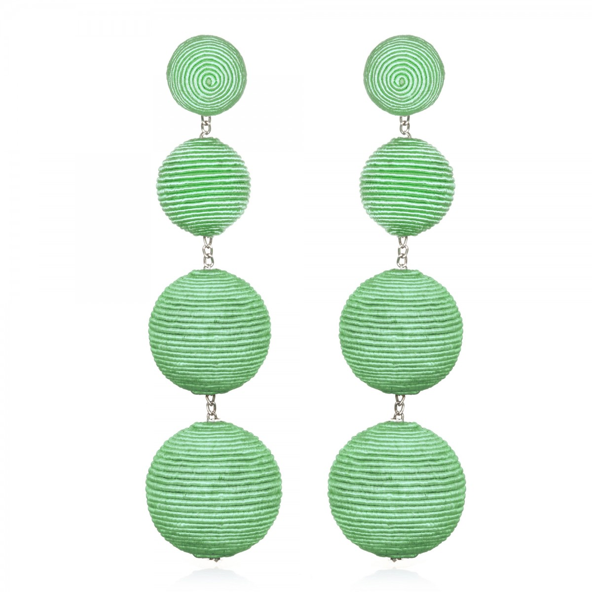 Mint Gumball Bon Bon Earrings by SUZANNA DAI