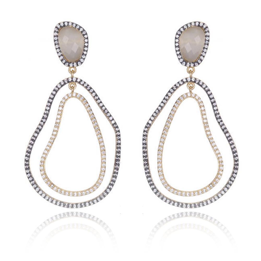Mixmetal Chandelier Earrings by MARCIA MORAN