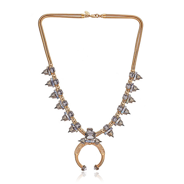 Modern Squash Blossom Necklace by ELIZABETH COLE