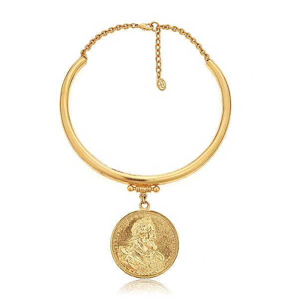 Moroccan Coin Collar Necklace by BEN-AMUN