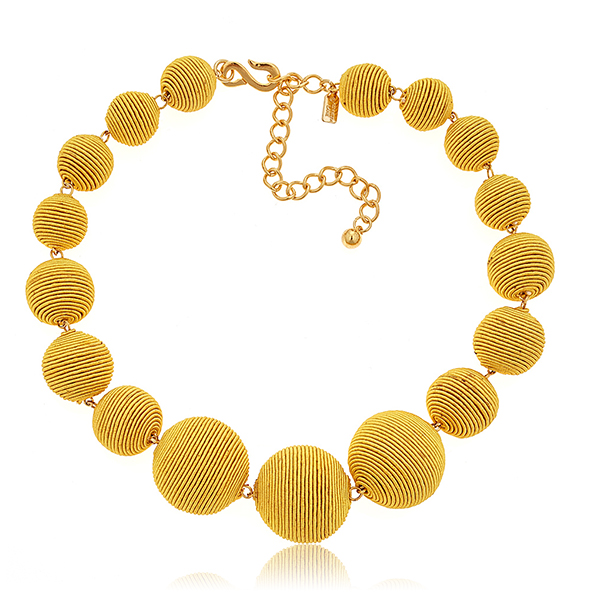 Yellow Bon Bon Necklace by KENNETH JAY LANE