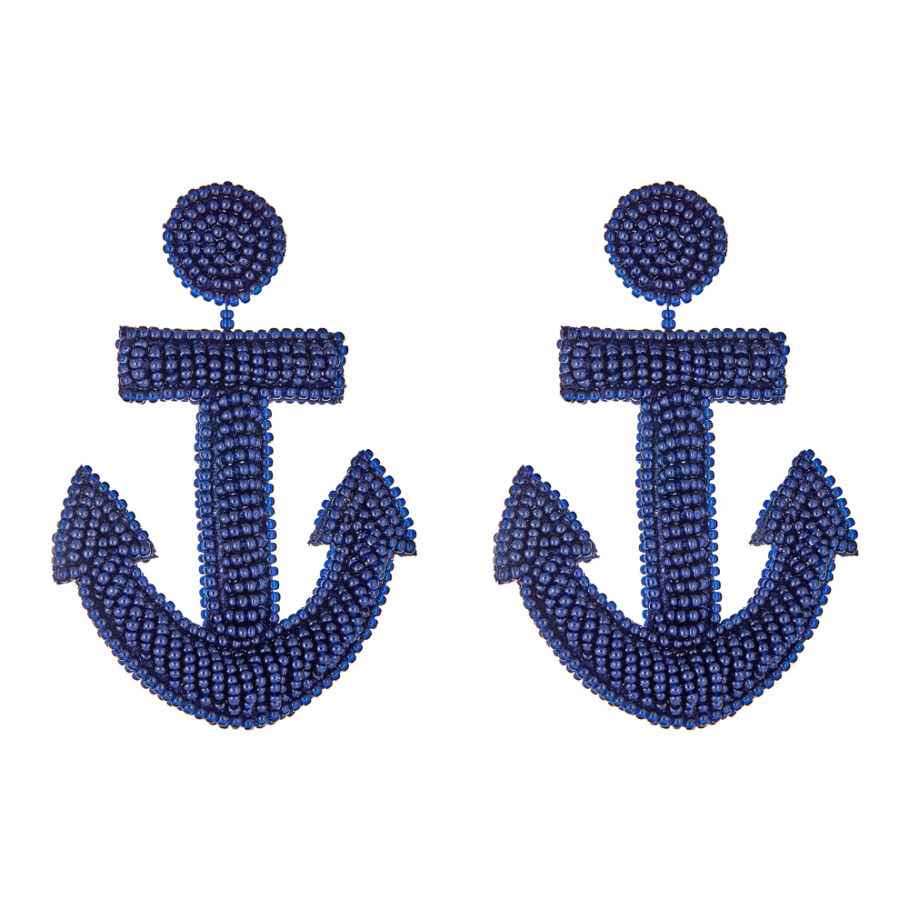 Navy Anchor Earrings by FRENCH AND FORD