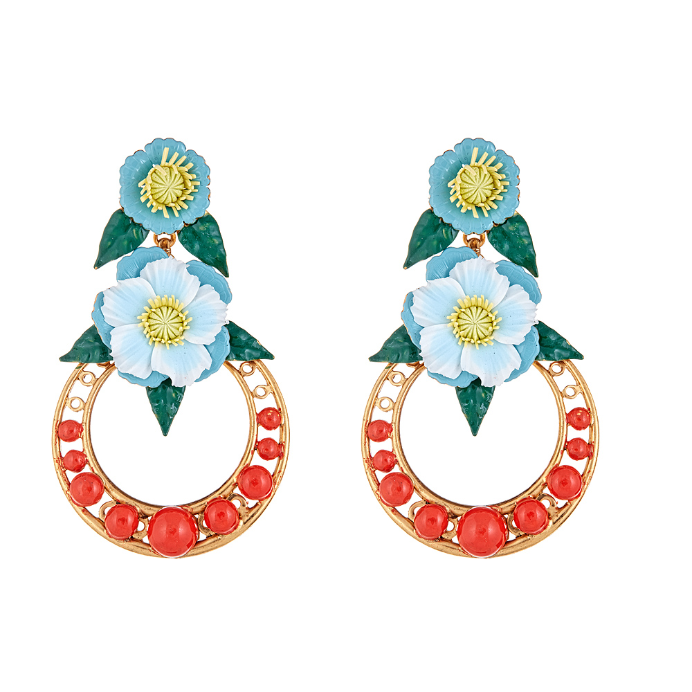 Odessa Flower Earrings by ELIZABETH COLE
