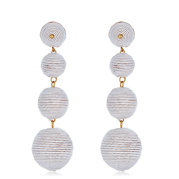 Off White Gumball Earrings by KENNETH JAY LANE