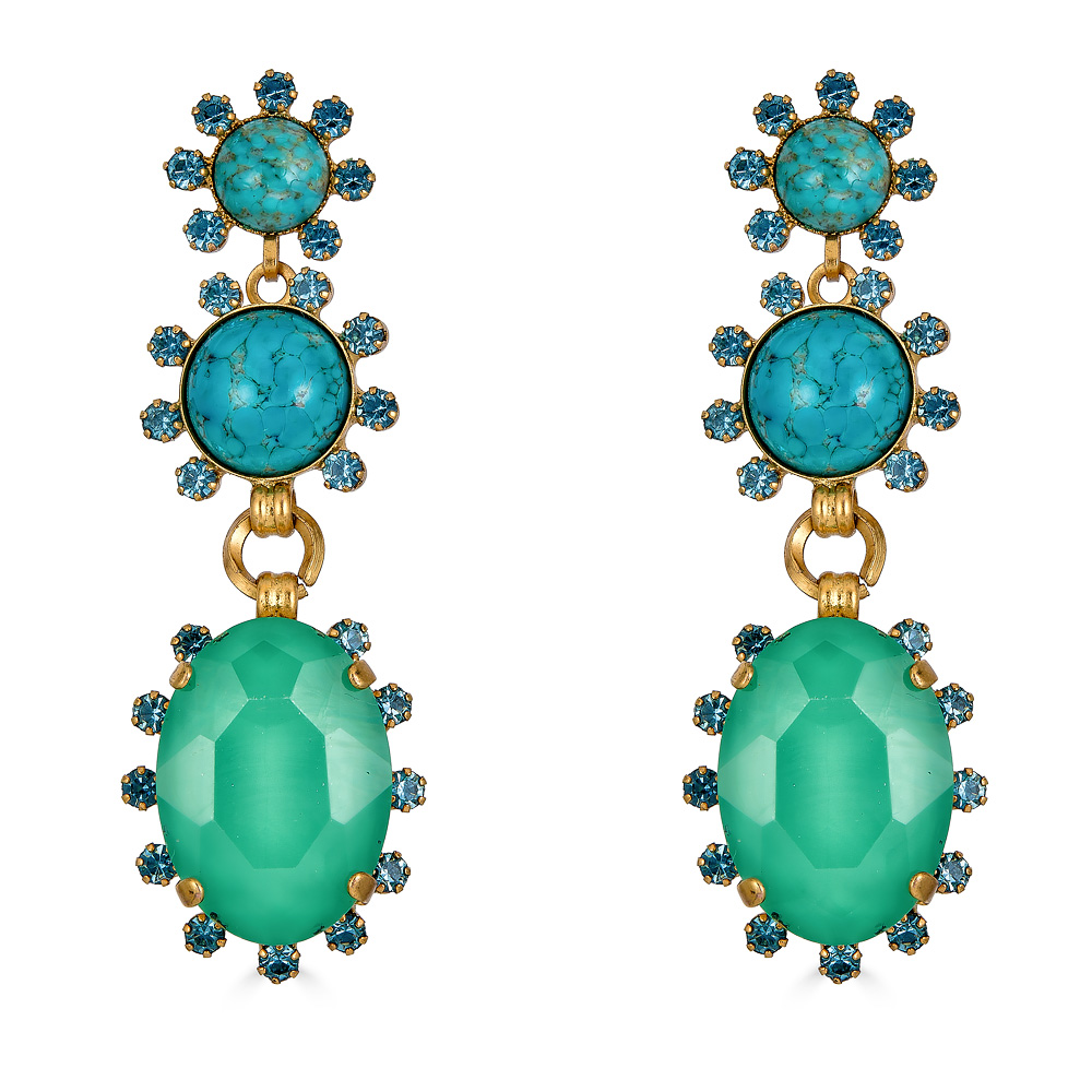 Olivia Turquoise Earrings by ELIZABETH COLE