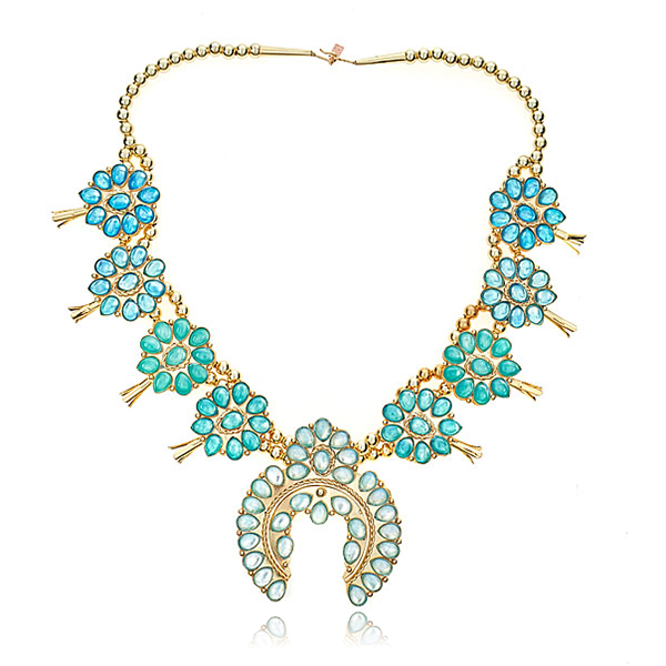 Ombre Squash Blossom Necklace by DOLORIS PETUNIA