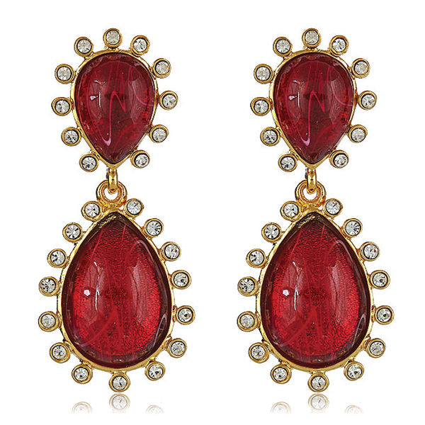Capri Ruby Earrings by KENNETH JAY LANE