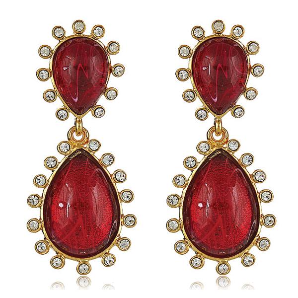Capri Ruby Earrings by Kenneth Jay Lane