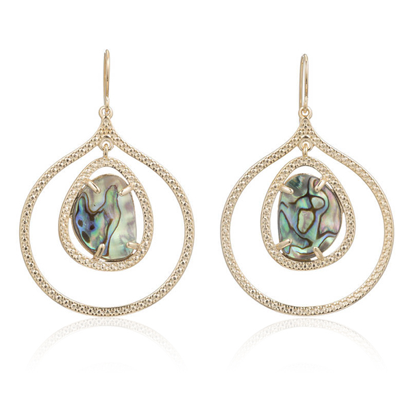 Organic Shape Abalone Earrings by MARCIA MORAN