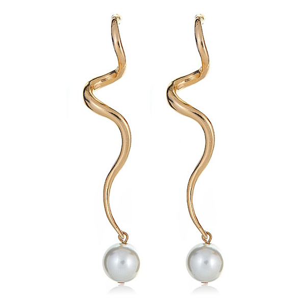 Pearl Swirl Ball Earrings by KENNETH JAY LANE