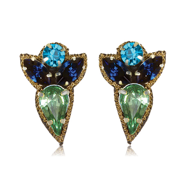 Persepolis Stud Earrings by SUZANNA DAI