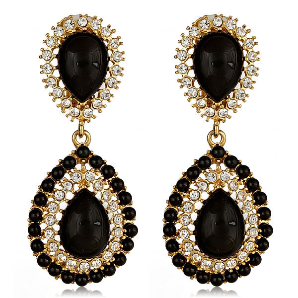 Petra Black Earrings by KENNETH JAY LANE