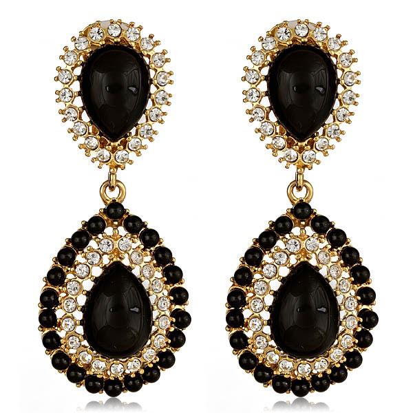 Petra Black Earrings by KENNETH JAY LANE