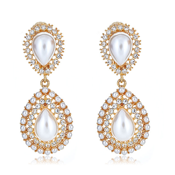 Petra Pearl Drop Earrings by KENNETH JAY LANE