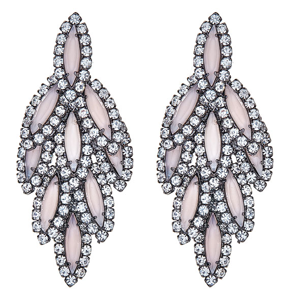 Pink Bacall Earrings by ELIZABETH COLE