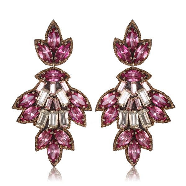 Pink Varna Drop Earrings by SUZANNA DAI