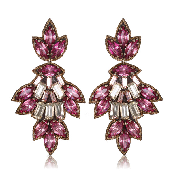 Pink Varna Drop Earrings by SUZANNA DAI