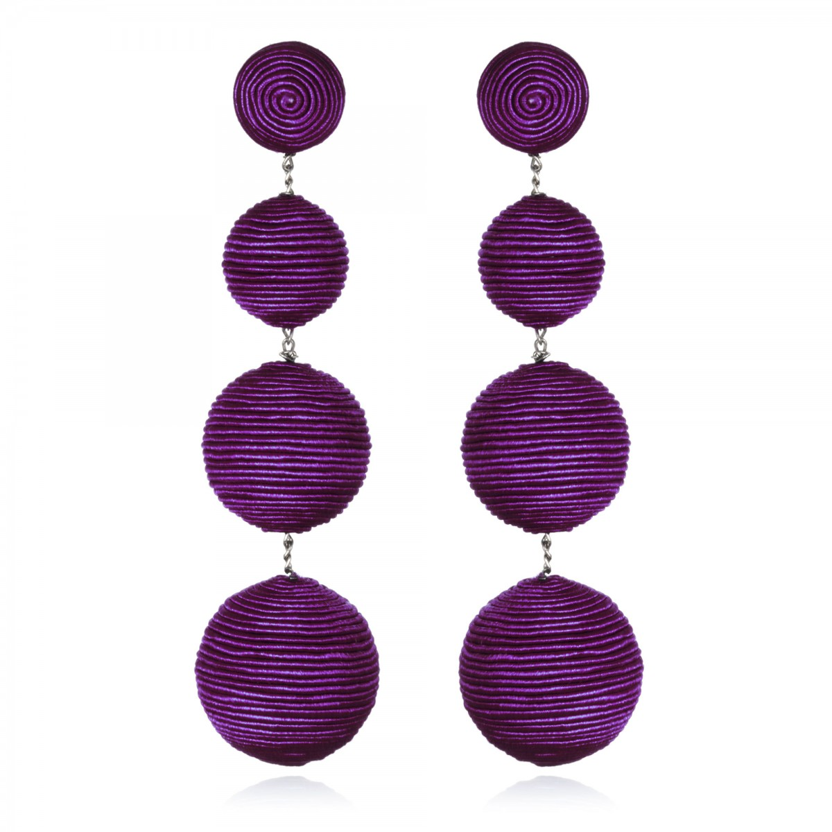 Plum Gumball Bon Bon Earrings by SUZANNA DAI