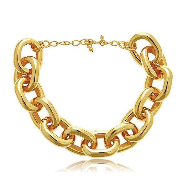 Polished Gold Link Necklace by KENNETH JAY LANE