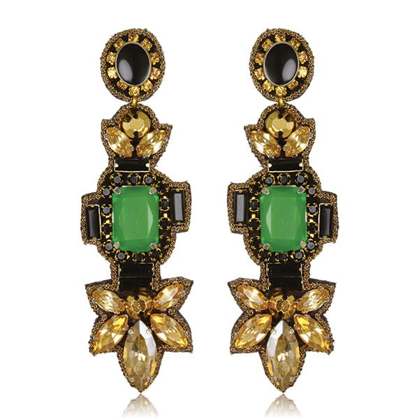Emerald City Drop Earrings by SUZANNA DAI