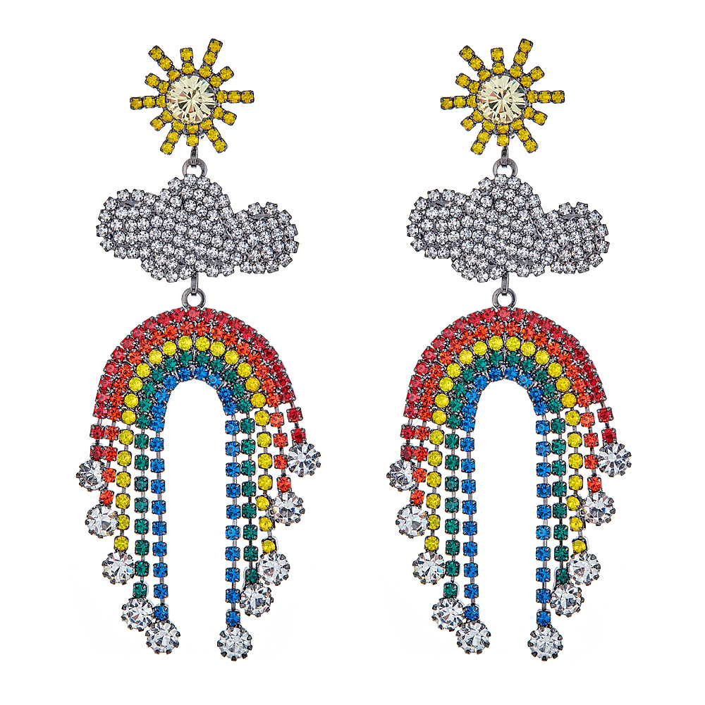 Rainbow Earrings by ELIZABETH COLE